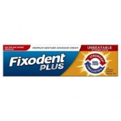 Three Packs Of Fixodent Plus Dual Power Denture Adhesive Cream 40g