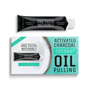 Activated Charcoal Coconut Oil Pulling   Home Teeth Whitening   Minty Flavour