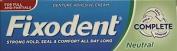 Twelve Packs Of Fixodent Denture Adhesive Neutral Taste 47g