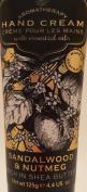 Aromatherapy Hand Cream Sandalwood & Nutmeg Rich Shea Butter Essential Oil 125g