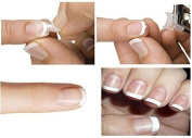 Gellis - French Manicure Nail Tips White - Thick - French Wrap Plus - 128 Tips