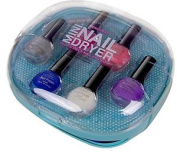 Tcw Professional Nail Dryer With Nail Polishes, Turquoise