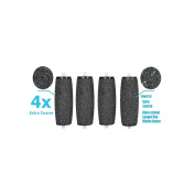 4 X Pedi Extra Hard Skin Remover Coarse Replacement Rollers Heads For Scholl