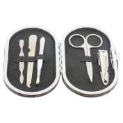 Gentlemen's Quarters Mens Manicure Nail Health Care Kit Black Leather Pouch Set