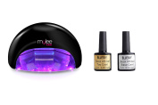 Gel Polish Nail Manicure Kit Bluesky Top Base Coat Mylee Led Lamp Dryer