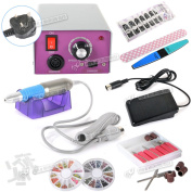 New 30000 Electric Acrylic Nail Art File Drill Manicure Pedicure Machine Set Kit