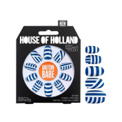 House Of Holland False Nails - Breton Babe Blue & White Striped Nails