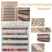 5-tier Nail Polish Display Shelf Holder Metal Wall Rack White + Free Box Uk