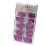 N Salon 100 Coloured Nail Tips - Purple