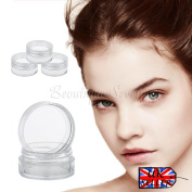 20 X 5ml Clear Plastic Sample Pots/jars **best Quality** Glitter/cosmet