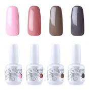 Vishine Gelpolish Nail Art Uv Led Gel Nail Polish Soak Off Manicure Kit 4 #3do
