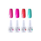 Vishine Gelpolish Nail Art Uv Led Gel Nail Polish Soak Off Manicure Kit 4