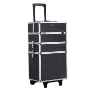Songmics Trolley Cosmetic Case Extra Large Alu 3 In 1 Jhz01b
