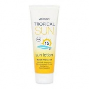 ** Anovia Tropical Sun Lotion Spf 15 100ml New** Water Resistant Uva Uvb