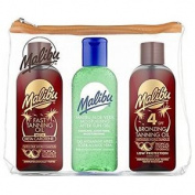 Malibu Travel Bag - Fast Tanning Oil, Spf 4 Bronzing Tanning Oil & Aloe Vera Gel