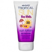 ** Anovia Tropical Sun Lotion For Kids Spf 30 65ml New** Uva Uvb Water Resistant