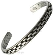 Magnetic Bracelet Mens Ladies Bangle Copper Pewter Look Chain Arthritis Cuff Bio