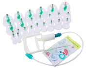 Nuoya005 Chinese Cupping Vacuum Massage Set 24pcs+8 Magnet Points+pump China Acu