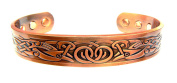 Magnetic Copper Arthritis Therapy Bracelet ~ Traditional Celtic Design With 6 To