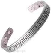 Magnetic Bracelet Mens Ladies Bangle Copper Pewter Look Aztec Cuff Bio Arthritis