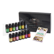 Top 14 Luxury Aromatherapy Essential Oils Set (10ml), Free Downloadable Recipe
