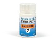 Schuessler Tissue Salts Kali Sulph No 7 - 125 Tablets