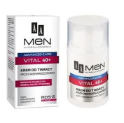 Aa Men Advanced Care Vital 40+ Anti Wrinkle Hypoallergenic Face Cream 50ml