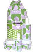 Orla Kiely Sage Lavender Body Hamper Shower Gel, Scrub, Body Cream, Mist