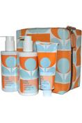 Orla Kiely Orange Caraway Hand & Body Kit Shower Gel, Body Milk, Hand Balm
