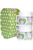 Orla Kiely Body Kit Sage Lavender Body Scrub 200ml And Body Cream 200ml