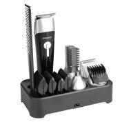 Sminiker 5 In 1 Waterproof Man's Grooming Kit Hair Clippers Beard Trimmer Dual