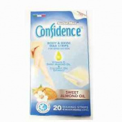Super-max Confidence Body & Bikini Wax Strips Sweet Almond Oil Waxing Strips
