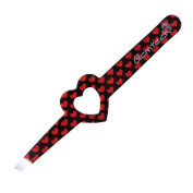 Glamtech Serious Tweezers Heart Eyebrow Precision Slant Tweezers, Red/black. Shi