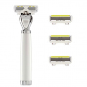 Shave-lab - Aon - Manual Razor With 4x Razor Blades P.l.6 - 6 Blades - For White