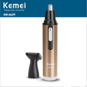 Kemei Nose Trimmer & sideburns Hair Trimmer With Micro-groomer Km-6629 Gold