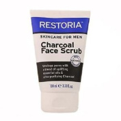 Three Packs Of Restoria Skincare For Men Charcoal Face Scrub 100ml