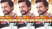Three Packs Of Bigen Mens Beard Colour B103 Dark Brown