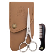 Beard Moustache Scissors With Comb For Precise Facial Hair Trimming Sharpness