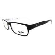 Ray-ban Glasses Frames 5114 2097 Black White Edge