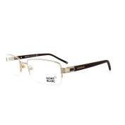 Mont Blanc Glasses Frames 0342 028 Gold Dark Brown