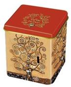 Fridolin 19312 Klimt Tree Of Life Metal Tea Box Multi-coloured 8 X 6.8 X 6.8 Cm