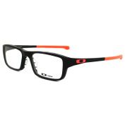 Oakley Glasses Frames Chamfer 8039 Ox8039-07 Matt Black & Neon Red
