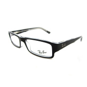 Ray-ban Glasses Frames 5246 2034 Top Black On Transparent 50mm