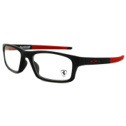 Oakley Glasses Frames Crosslink Pitch Ox8037-15-52 Satin Black & Red Ferrari