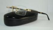 Mont Blanc Mb 473 028 Gold & Black Rimless Real Horn Eyeglasses Frames Size 56
