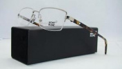 Mont Blanc Mb 581 A16 Palladium & Tortoise Half Rim Eyeglasses Frames Size 55