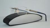 Porsche Design P 8245 B Blue & Gold Rimless Brille Eyeglasses Frames Size 54