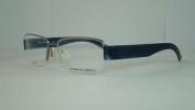 Porsche Design 8203 C Titanium Grey Dark Blue Half Rim Eyeglasses Frames Size 55