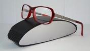 Porsche Design P 8207 B Red & Light Gunmetal Brille Eyeglasses Frames Size 53