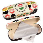 Dotcomgiftshop Tulip Bloom Design Hardshell Glasses Case & Cleaning Cloth